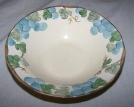 Vintage Metlox Poppytrail Blue Sculptured Grape Cereal Bowl-7 inches across - $8.00