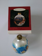 """Hallmark Keepsake Ornament Godparent 3"""" Glass Ball 1994 Mary Hamilton 02423 - $6.92"""