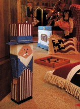 Plastic Canvas Patriotic July 4th Uncle Sam Doorstop Wind Sock Pattern - $7.99