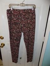 LuLaRoe Black W/Yellow Floral Print Leggings Size Tall and Curvy Women's NWOT - $24.92