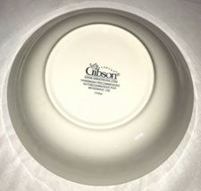 Gibson China Poinsettia Serving Platter Oval Tray Vegetable Bowl Holiday Decor image 8