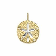 .925 Sterling Silver 14 Karat Gold Plated Sand Dollar Women's Pendant - $35.95