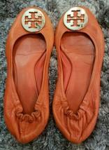 Tory Burch Reva Women's Red/Orange Leather Ballet Flats Shoes Size 8.5 / 9M - $70.11