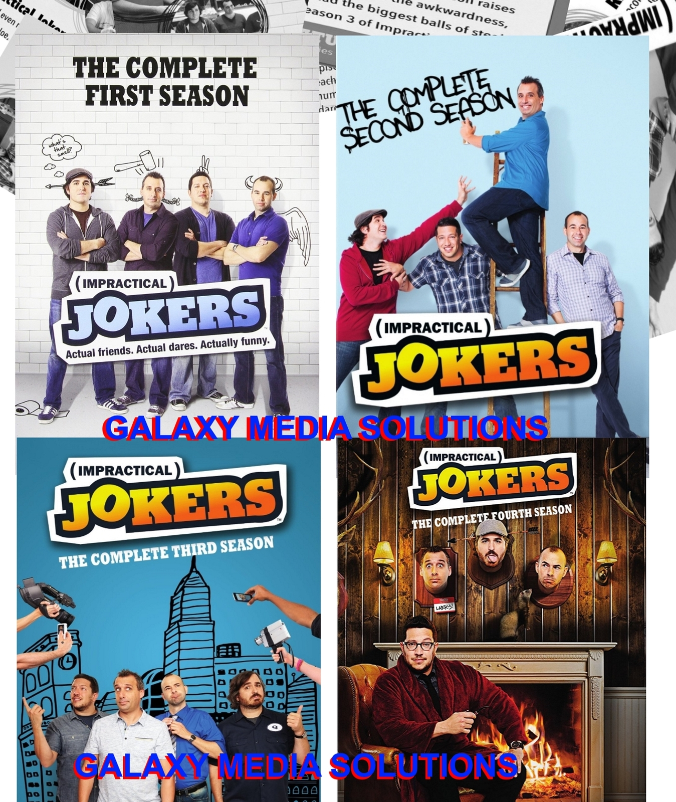 Impractical jokers season 1 4 one three dvd bundle  12 disc 2016  1 2 3 4 new