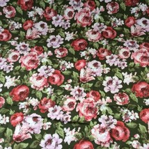 """Waverly Fabric Material Latin Quarter Pink Green Floral 48"""" X 136"""" 3.75 ... - $45.95"""