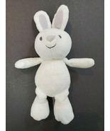 Just One You Carters White Bunny Rabbit Grey Ears Rattle Plush Baby Toy ... - $31.72