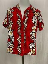 Royal Creations Mens Hawaiian Button Up Short Sleeve Shirt Large Red  Hi... - $19.35