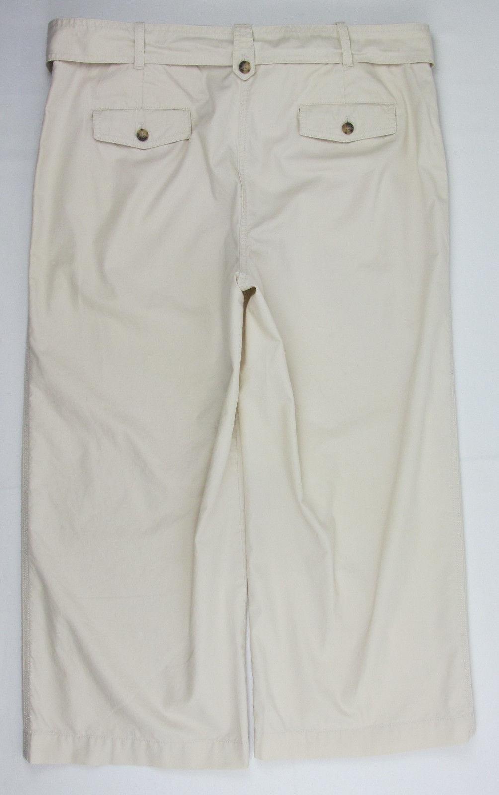 NWT Talbots Heritage Capri pants casual beige Womens Size 16 ~ $ 79