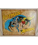 TIN METAL SIGN- Batman and Robin DC Comics Retro Wall Decoration Superhero - $16.50
