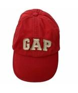 Gap Kids Spellout Red Cotton Large XL 6 Panel Adj Baseball Hat Ball Cap  - $15.88