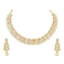 Indian Bollywood Choker Gold Plated Fashion Jewelry Necklace set Wedding... - $18.80