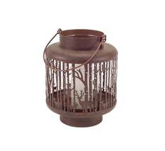 "Melrose 7.5"" Luxury Lodge Rustic Brown Deer Christmas Candle Holder Lantern - $29.69"