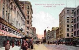 Broadway Street Scene Los Angeles California 1910c postcard - $6.39