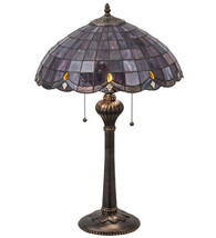 "Meyda Tiffany Style 24""H Elan Table Lamp Light Stained Glass Purple 78123 - $297.00"