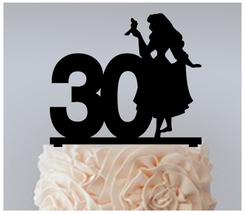 30th Birthday Anniversary Cake topper,Cupcake topper,beauty aurora : 11 pcs - $20.00