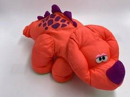Fisher Price Puffalump Dinosaur Roar Sound Plush Orange Purple Tricerato... - $36.99