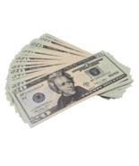 50x $20 Full Print Bills Play Poker Game Joke Prank Fun Music Video Fake  - $12.99