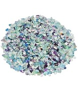 SUNYIK Fluorite Tumbled Chips Stone Crushed Crystal Quartz Pieces Irregu... - $16.57