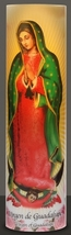Virgin of Guadalupe , LED Flame-less Devotion Prayer Candle image 3