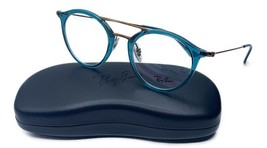 Ray-Ban Women's Blue Turquoise Round Glasses with case RB 7097 5632 49mm - $139.99