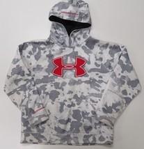Under Armour UA Storm Loose Armour Fleece Big Logo Blocked Boys Hoodie Y... - $21.99