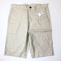 gap womens size 28 linen Cotton Tank Khaki capri's - $24.74