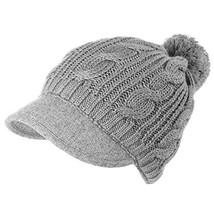 SIGGI 100% Wool Knit Visor Beanie Winter Hat for Women Newsboy Cap (8921... - $31.19