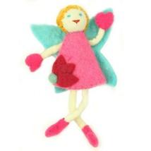 Handmade Felt Tooth Fairy Doll - Blonde Hair Blue Eyes - $23.74