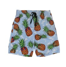 Boys Swim Trunks Summer Beachwear Hawaiian Long Pineapple Kids Board Shorts - L+