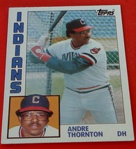 Andre Thornton, Indians,  1984  #115 Topps Baseball Card,  GOOD CONDITION - $0.99