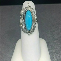 Vintage Navajo Sterling Silver Turquoise Ring Size 5 - $1.173,28 MXN