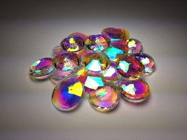 Glass crystals rainbow colored fuming 1lb chipp... - $19.99