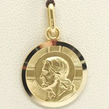 SOLID 18K YELLOW GOLD JESUS CHRIST REDEEMER 19 MM MEDAL, PENDANT, MADE IN ITALY image 3