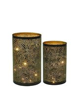 Moroccan Tea Light Votive Holders( Set of two) Brass Indian Handmade Au57 - $26.73