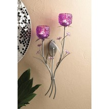 Fuchsia Blooms Wall Sconce - $33.00