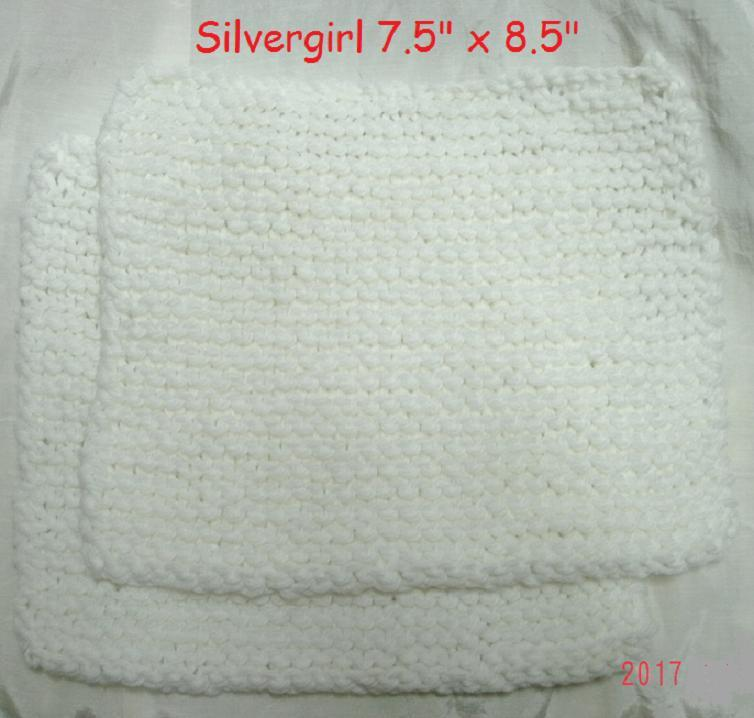 Primary image for Soft Hand Knit Soft Nylon Dish Face Cloths White or Of White