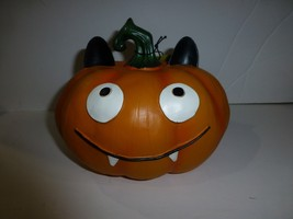 Goofy Funny Face Resin Pumpkin Halloween Decor New by 13 Pumpkins - €21,20 EUR