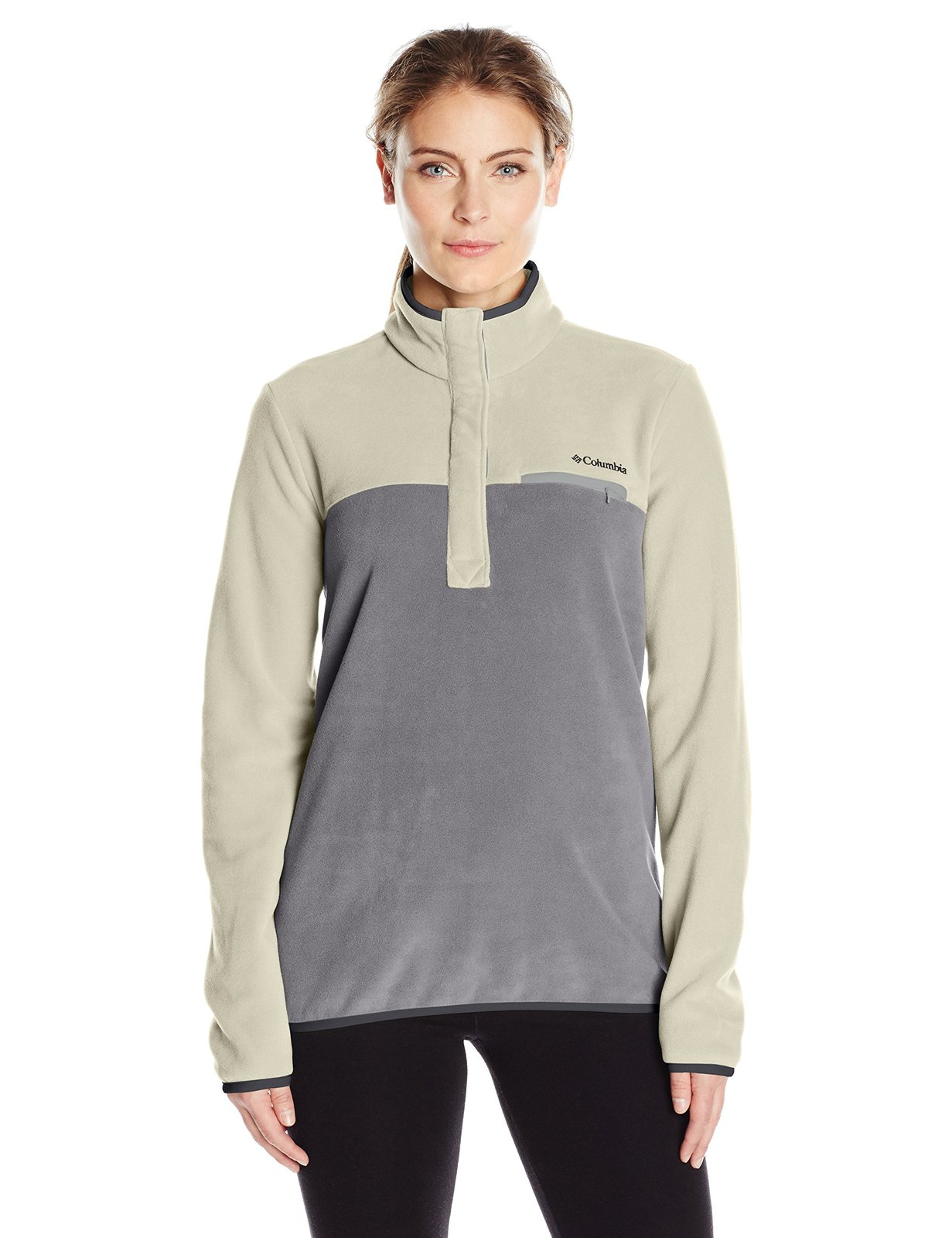 Columbia Women's Mountain Side Pullover, Chalk Columbia Grey, Medium