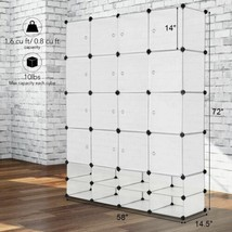 Durable 16+8 Cubes Portable Clothes Closet Storage Cabinet - Organizer - $106.39