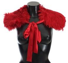 Dolce & Gabbana Red Alpaca Strap Collar Scarf - $297.68+