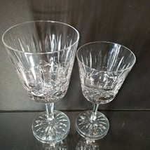 16 pc ATLANTIS Heavy Cut Lead Crystal FATIMA 8 Water & 8 Wine Goblets image 2