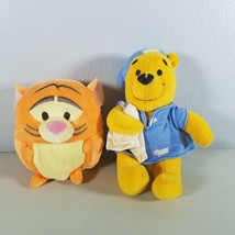 "Disney Winnie the Pooh Plush Lot of 2 Pooh Rattles 6.5"" & Tigger Round 3.5"" - $14.00"