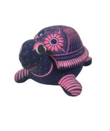 """Hand Painted Clay Pottery Turtle 