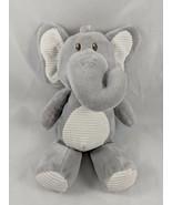 "Kellytoy Gray Elephant Rattle Plush Clip On 9"" Crib Stroller Stuffed Ani... - $9.95"