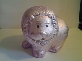 Fun metallic pink lion bank - $8.32