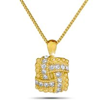 White Stone-Square-Necklace-Solid Gol-Cremation-Jewelry-Keepsake - $399.00+