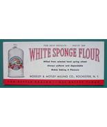 INK BLOTTER 1950s  - FLOUR White Sponge Rochester New York - $4.49
