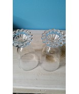 "Set of 2 Anchor Hocking Boopie Glasses. Clear glass 5 1/2"" Tall - $6.00"