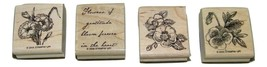 Flowers of Gratitude Stampin Up 2005 Stamp Set Stamps 4 15341 - $29.69