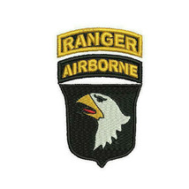 101st Airborne with Ranger Tab Screaming Eagle Custom Embroidered Polo Shirt - $29.95+